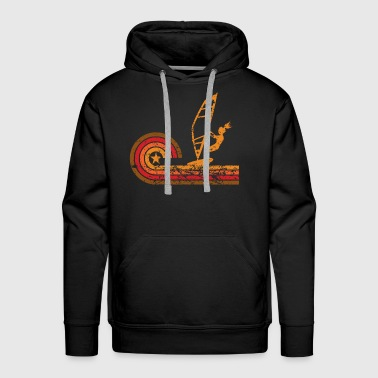Retro Style Wind Surfer Vintage Wind Surfing - Men's Premium Hoodie