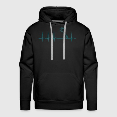 Heartbeat Kitesurfing Kiteboard Fun Gift Cool - Men's Premium Hoodie