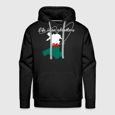 Welsh Life Is An Adventure - Men's Premium Hoodie