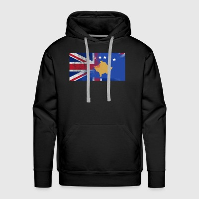 British Kosovan Half Kosovo Half UK Flag - Men's Premium Hoodie