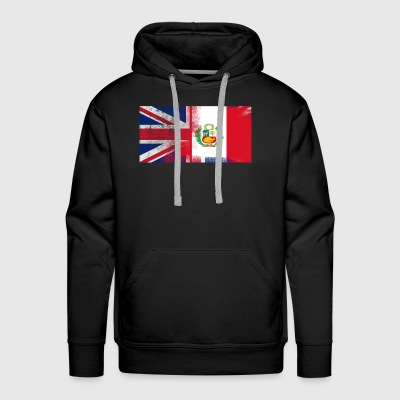 British Peruvian Half Peru Half UK Flag - Men's Premium Hoodie