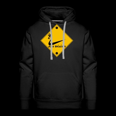 Hunting Deer Crossing - Men's Premium Hoodie