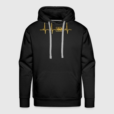 evolution ekg heartbeat TECHNO DJ ELECTRO - Men's Premium Hoodie