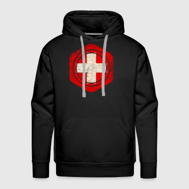 HEXAGON SWITZERLAND GRUNGE - Men's Premium Hoodie