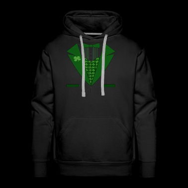 Irish Evergreen Bow Tie - Men's Premium Hoodie