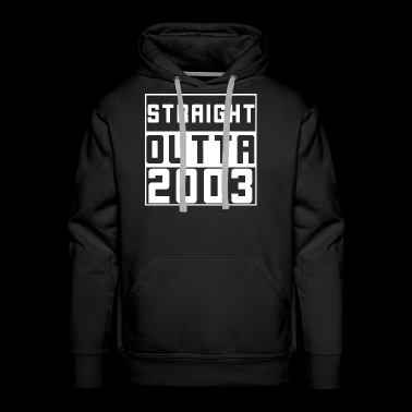 Straight Outta 2003 Saying Tee Shirt - Men's Premium Hoodie