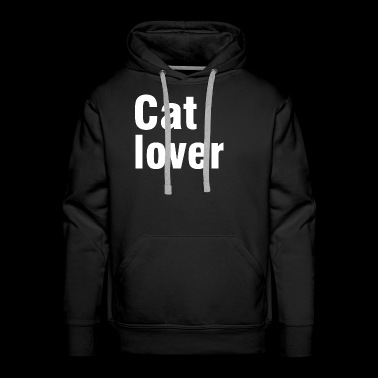 Cat love shirt pet love gift idea - Men's Premium Hoodie