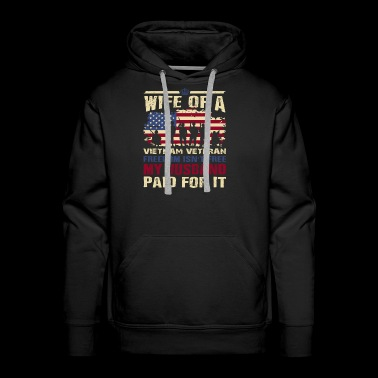 Proud Wife Vietnam Veteran - Men's Premium Hoodie