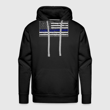 Canadian Police Thin Blue Flag Shirt - Men's Premium Hoodie