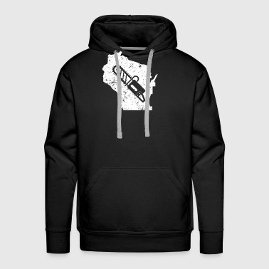Chainsaw Shirt Wisconsin Logger Shirt Logger Tea Shirt - Men's Premium Hoodie