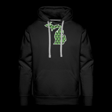 Shamrock Shirts For Men Michigan Saint Patricks Day - Men's Premium Hoodie