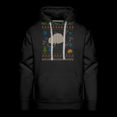 Beaver Trapping Christmas Ugly Holiday Shirt - Men's Premium Hoodie
