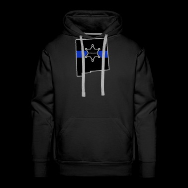 New Mexico Deputy Sheriff T Shirt Thin Blue Line - Men's Premium Hoodie