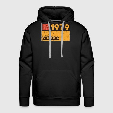 Electronic Music Producer 1979 Vintage Cassette Birthday Shirt - Men's Premium Hoodie
