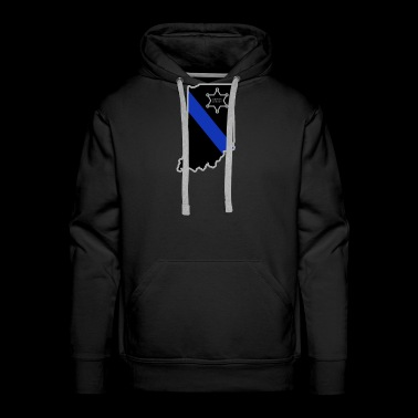 Indiana Deputy Sheriff T Shirt Thin Blue Line - Men's Premium Hoodie
