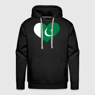 Pakistan Heart; Love Pakistan - Men's Premium Hoodie