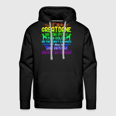 GREAT DANE WALKING ANSWERS SHIRT - Men's Premium Hoodie