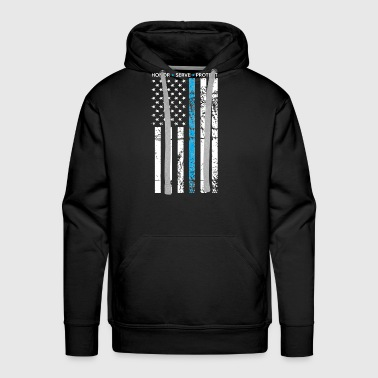 THIN BLUE LINE FLAG POLICE LIVES MATTER - Men's Premium Hoodie