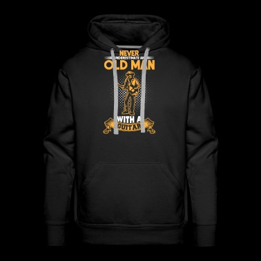 Old man with guitar - Men's Premium Hoodie