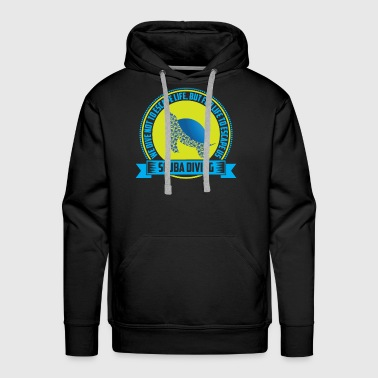 Escape with scuba diving! - Men's Premium Hoodie