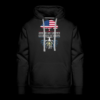 American Grown with Guatemalan Roots Guatemala Design - Men's Premium Hoodie