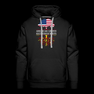 American Grown with Macedonian Roots Macedonia Design - Men's Premium Hoodie