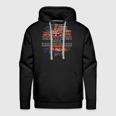 American grown with puerto rican roots - Men's Premium Hoodie