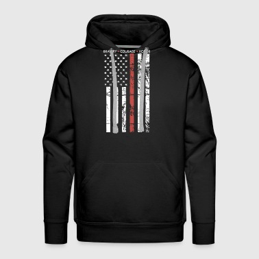 THIN RED LINE FLAG FIREFIGHTER FIRE DEPARTMENT - Men's Premium Hoodie