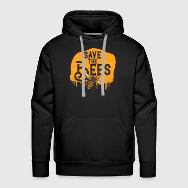 save the bees yellow gift love earth climate - Men's Premium Hoodie