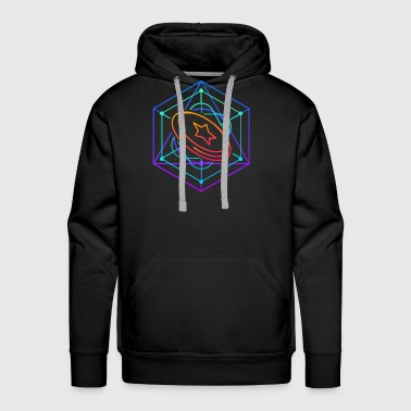 Psyechedelic Geometry - Ultimate Frisbee - Men's Premium Hoodie