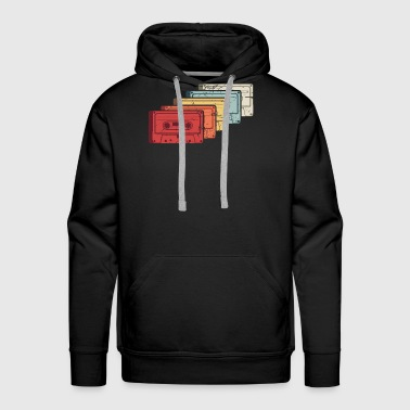 Retro Vintage Cassette Tapes - Men's Premium Hoodie