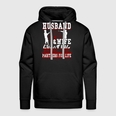 Husband & Wife Shooting Partners T Shirt - Men's Premium Hoodie