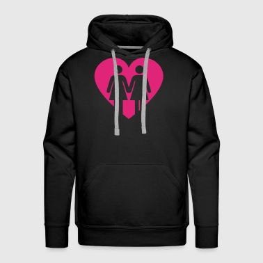 Lesbians In Love Heart Lgbt Equality Gay Rights Pr - Men's Premium Hoodie