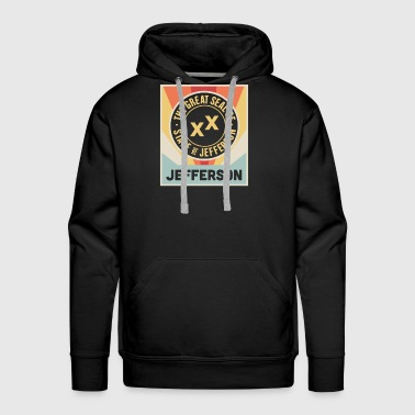 State Of Jefferson | Retro Vintage Style Poster - Men's Premium Hoodie