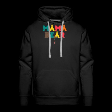 Mama Bear T-Shirt - Feather Indian Charm Tipi Tent - Men's Premium Hoodie