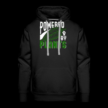 Powered By Plants - Men's Premium Hoodie
