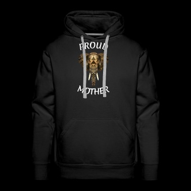 MOTHERS DAY ELEFANT GIFT ANIMAL AFRICA MUM MOMMY - Men's Premium Hoodie