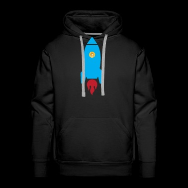 Dogecoin Rocket Ship- Blockchain HODL Crypto - Men's Premium Hoodie