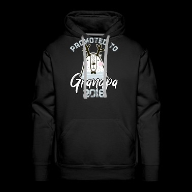Promoted to Grandpa 2018 t shirt 2 - Men's Premium Hoodie