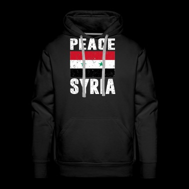 Peace Syria Flag Support Syrian People T Shirt - Men's Premium Hoodie