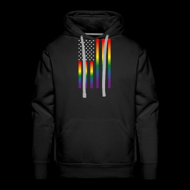 LGBT Gay Lesbian Pride Rights Support Tolerance - Men's Premium Hoodie