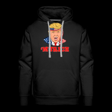 Donald Trump Merica Independence Day 4th Of July - Men's Premium Hoodie