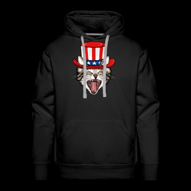 Cat Lover 4th Of July - Men's Premium Hoodie