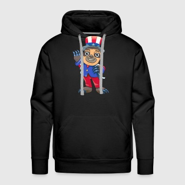 Sloth July Of 4th - Men's Premium Hoodie