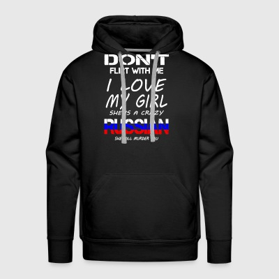 RUSSIAN GIRL SHIRT - Men's Premium Hoodie