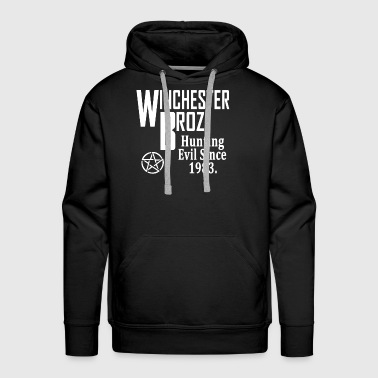 supernatural winchester broz hunting evil since 19 - Men's Premium Hoodie