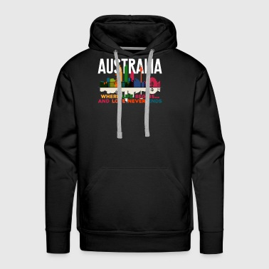 AUSTRALIA WHERE LIFE BEGINS SHIRT - Men's Premium Hoodie