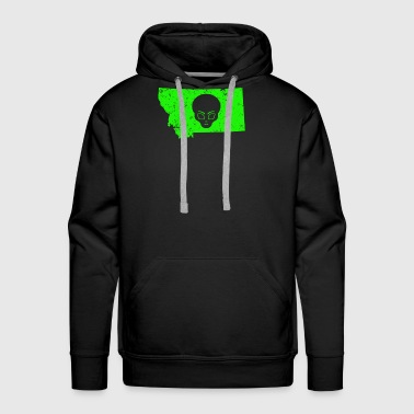 UFO Hunting Abduction Extraterrestrial Archaeology Montana - Men's Premium Hoodie