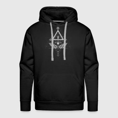 Moth in occult design - Men's Premium Hoodie