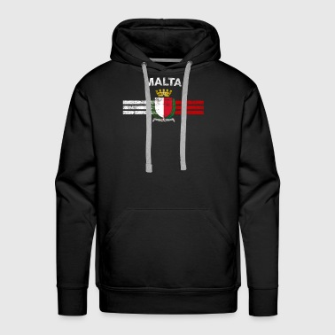 Maltese Flag Shirt - Maltese Emblem & Malta Flag S - Men's Premium Hoodie
